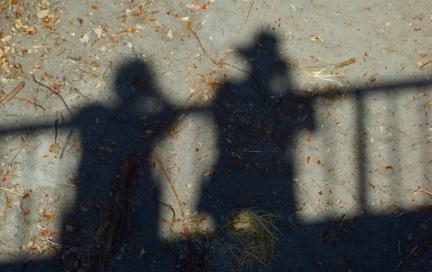 Shadows of Laura and John