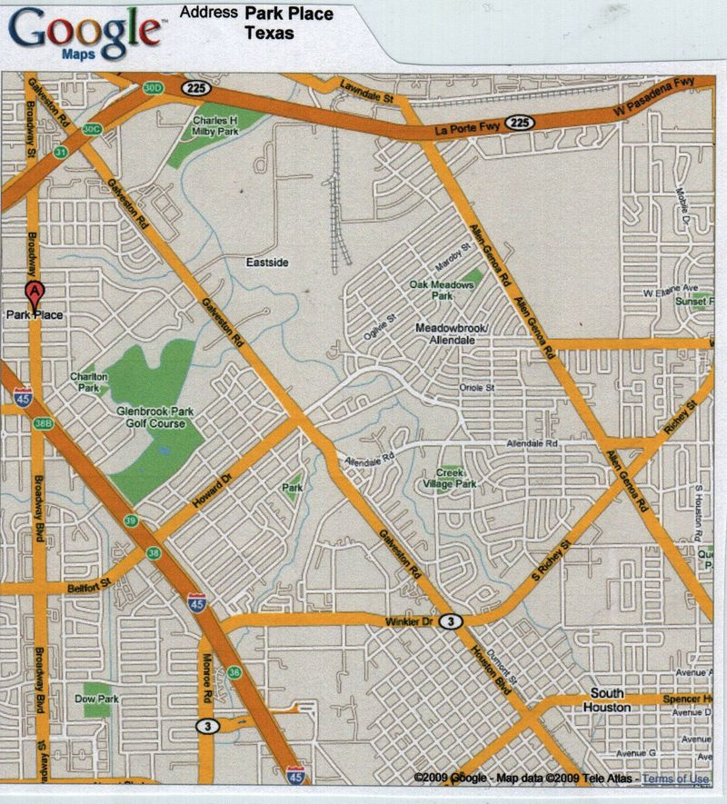 Google Map of Milby Area 3