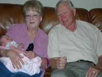 Linda Hocher Bennett and grandchild