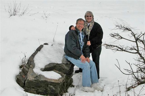 J - Ken and Carole Corey in the Snow
