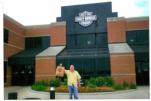 B - John at the Harley Davidson Factory
