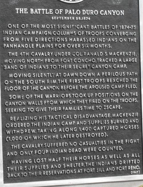B) The Battle of Palo Duro Canyon
