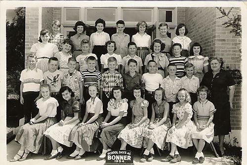6th grade Bonner Class 1954
