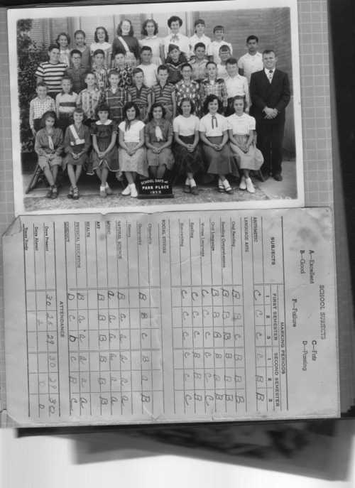 Park Place Elementary midterm 1953