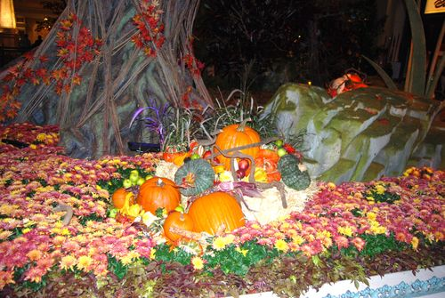 (Bd) - Bellagio Lobby, Fall Decor
