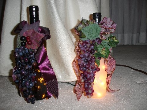 Bottles With Decorations and Lights