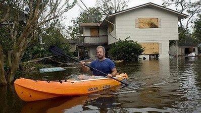 Surveying Flood Damage in League City, Texas