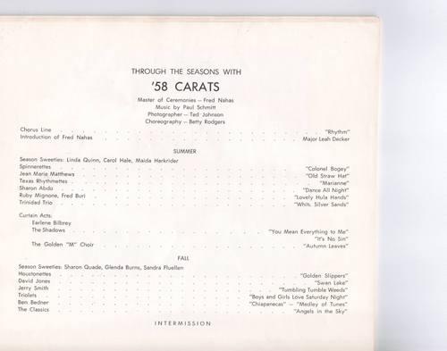 '58 Carats Program, page 1