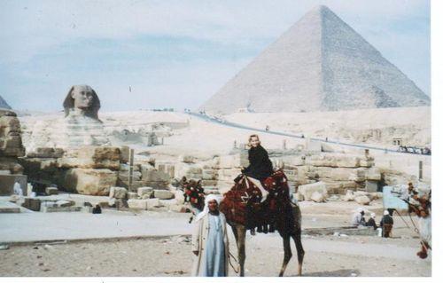 I) Karla on a Camel at Giza