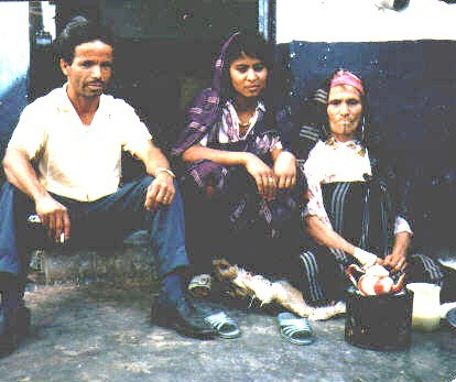 Ca) Our Houseboy Mohammed with His Wife and Mother