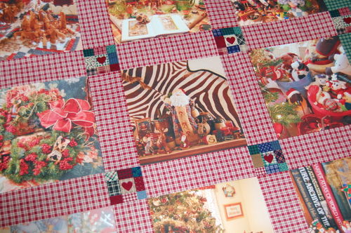 CD - Second Christmas Photo Quilt Detail