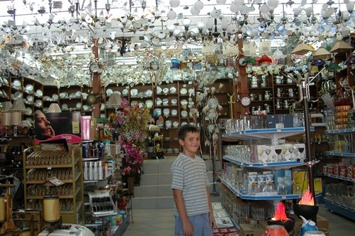 "17 - Lamp Shop in ""Plastic Alley"""