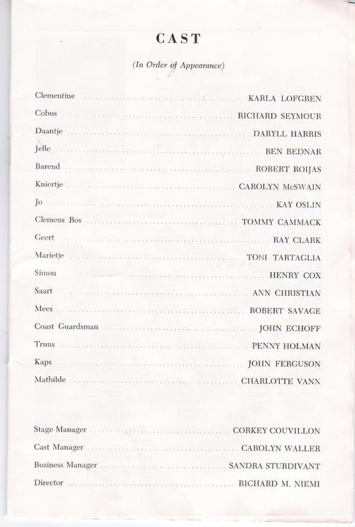 """Cast of """"The Good Hope"""", Stage '59"""