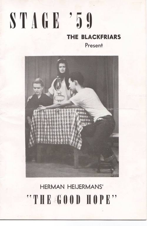 """Stage '59 Program for """"The Good Hope"""""""