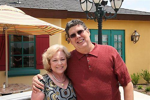 L) Ray With Melanie at Mimi's Restaurant