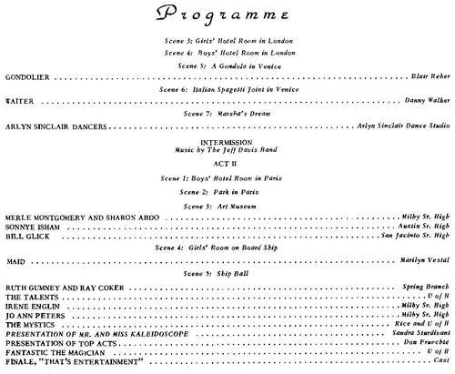 Kaleidoscope Programme - 1959