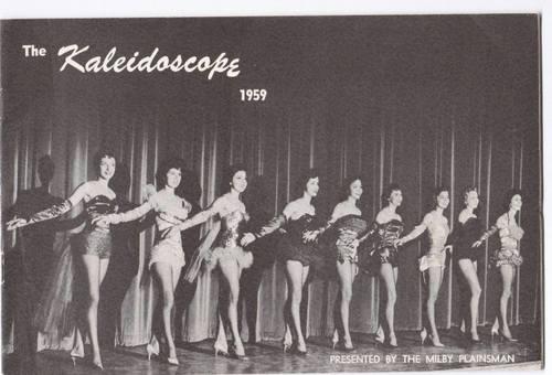 Milby Kaleidoscope 1959 Program Cover