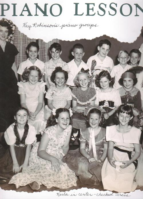 Mrs. Robinson's Piano Students (about 1952)