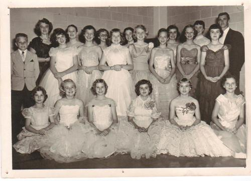 Mrs. Robinson's Piano Students (about 1955)